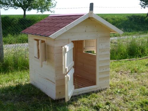 Dřevěný dětský zahradní domeček přírodní