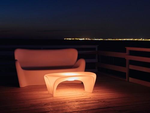 Konferenční plastový stolek s osvětlením-GD
