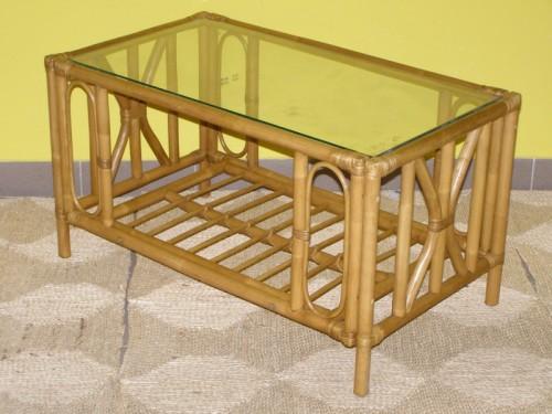 Obdélníkový ratanový stolek-RK