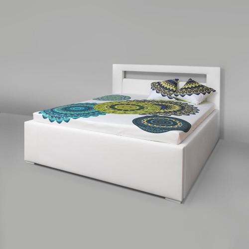 Čalouněná postel s úložným prostorem - DR