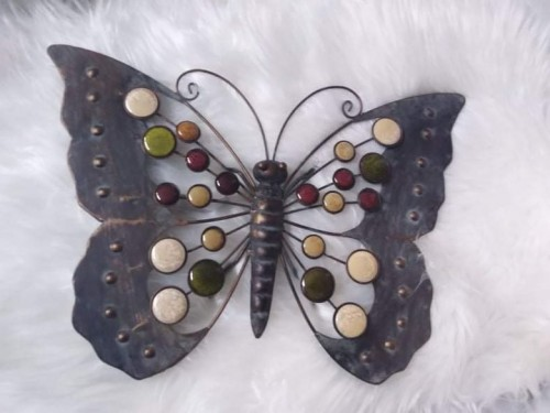 Kovový motýl dekorace na zeď