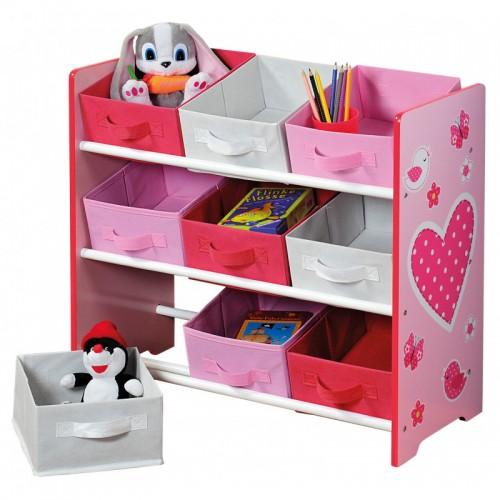 Růžový organizér na hračky - bH